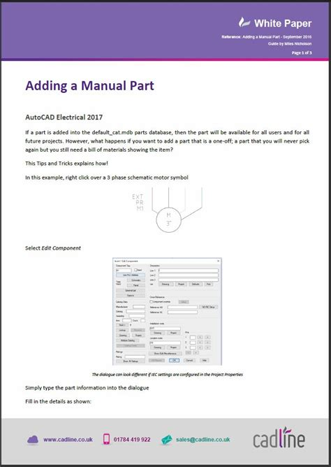 autocad electrical 2017 adding a manual part cadline community