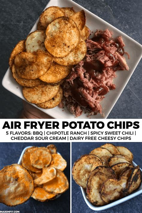 chips air fryer potato bbq snacks recipe sweet way recipes healthy easy masonfit sour cheddar cream chip fried fry quick