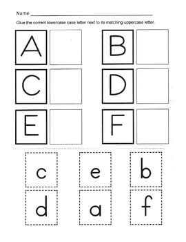 Alphabet Recognition  Uppe By Kelly Connors  Teachers Pay Teachers