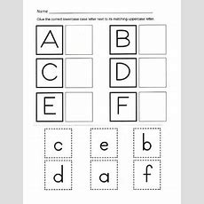 Alphabet Recognition  Uppercase And Lowercase Alphabet Matching Worksheets
