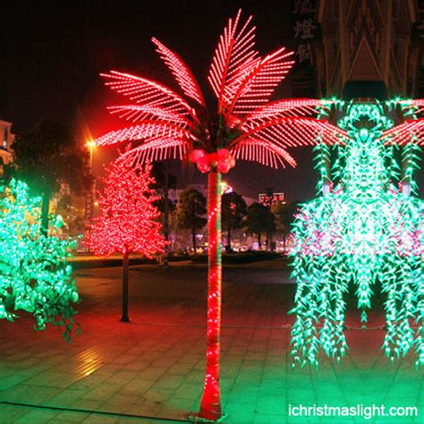 decorative palm trees with lights holiday decorative red palm tree light ichristmaslight