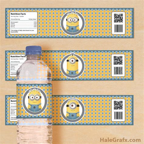 Batman The Long Halloween Pdf by Free Printable Despicable Me Minions Water Bottle Labels