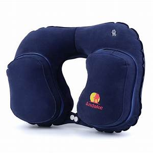 andake travel pillow neck inflatable pillow best for your With best pillow for head and neck support