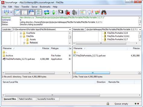 filezilla portable 3 10 0 2 ftp client released