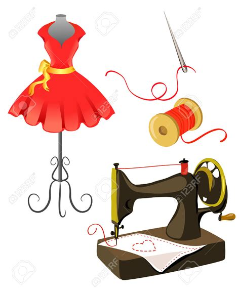 Sewing Clip Fashion Clipart Sewing Mannequin Pencil And In Color