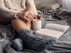 With warm tea and book, the winter is amazing… - BlurStyle