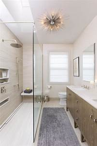 Modern, White, And, Neutral, Master, Bathroom, With, Glass, Shower