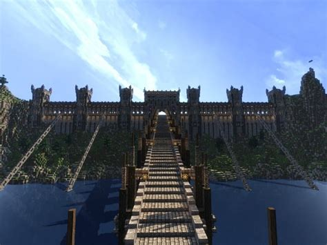 castle  whitecliff mountains motte  wall minecraft building
