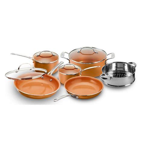 gotham steel original copper  piece ceramic  stick cookware set reviews wayfair