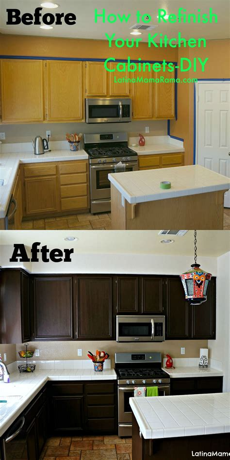 How To Refinish Your Kitchen Cabinets  Crafty 2 The Core