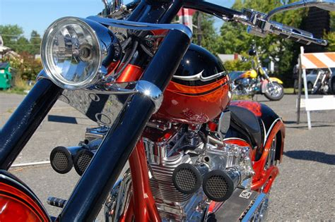 Seattle Greenwood Car Show Custom Motorcycle Engine And