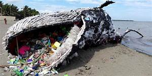 Giant quotdead whalequot is haunting reminder of massive plastic for Whale made of plastic waste