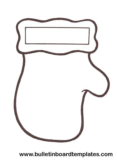 Mitten Template Mitten Template Cut These Out For A Craft With The