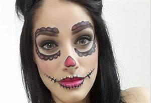 Maquillage D Halloween Pour Fille : maquillage halloween pour d butante poup e mal fique ~ Melissatoandfro.com Idées de Décoration