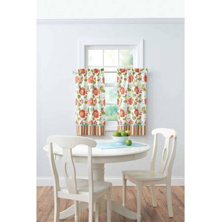 better homes and gardens curtains better homes and gardens jacobean stripe kitchen kitchen