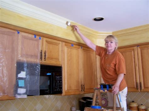 Pull one velcro pad and put it. Kitchen Cabinet Makeover: From Drab to Fab - The Colorful ...