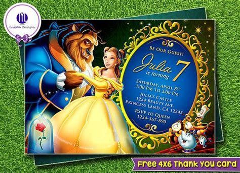 beauty   beast invitation beauty   beast party