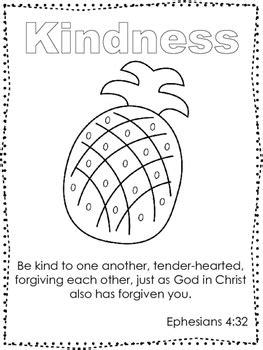 single bible curriculum worksheet fruit   spirit kindness preschool bible
