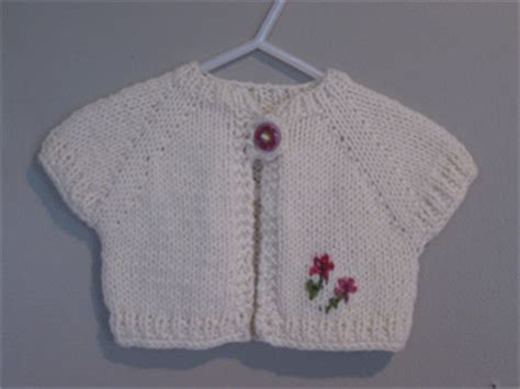 ravelry quick knit baby shrug pattern  natalie haban