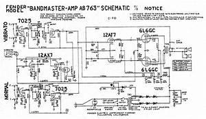 Fender  U0026quot Black Face U0026quot  Bandmaster Tube Amp Schematic