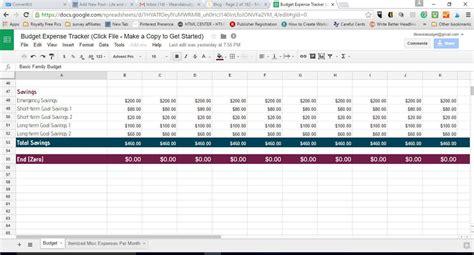budget spreadsheet template    life