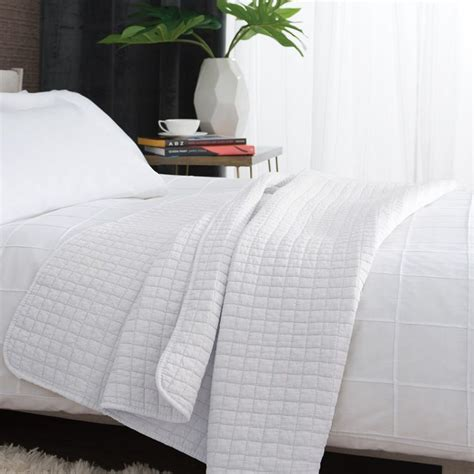 tamarind quilted microfibre bedspread throw