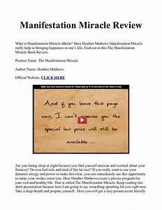 Manifestation Miracle Book    Manual Pdf Free Download Is