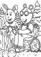 Coloring Camping Pages Printable Sheets Arthur Theme Rv Getdrawings Getcolorings Fun Read Coloringsun Buster Baxter Colorings sketch template