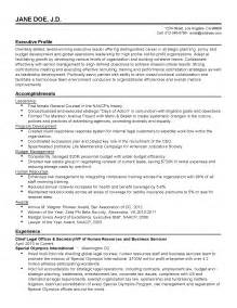 In House Counsel Resume Sles by Professional Chief Officer Templates To Showcase