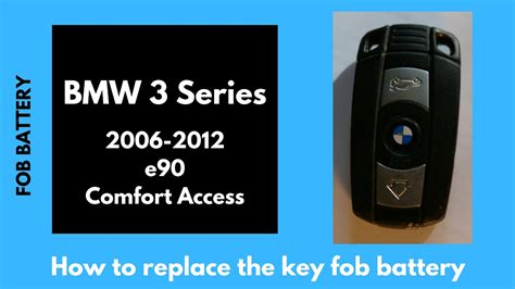 bmw  series key battery replacement  fob