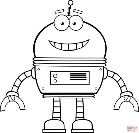 robot coloring pages smiling robot coloring page free printable coloring pages