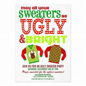 Ugly christmas sweater party invitations for Ugly sweater christmas party invitations template