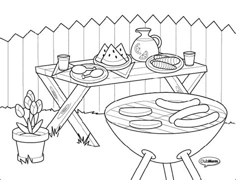 Barbeque Kleurplaten by Bbq Coloring Pages Class