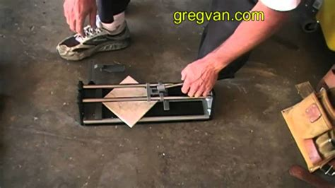 how to cut diagonal ceramic floor tiles