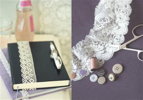 shabby chic deko ideen notizbuch mit spitzenband bild 10 living at home