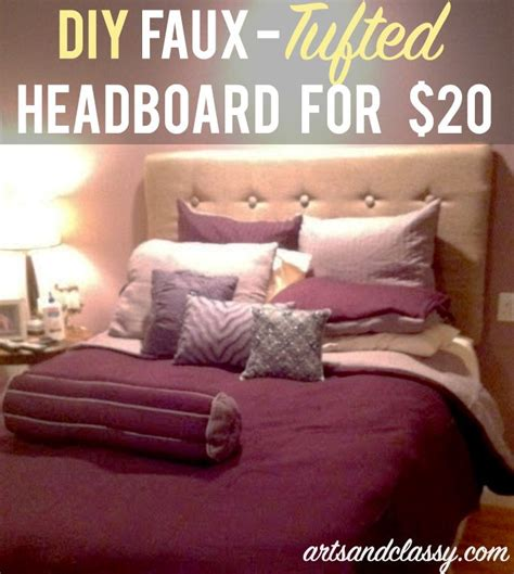 diy faux tufted headboard for 20 tutorial diy