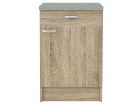 meuble bas cuisine 40 cm profondeur meuble bas cuisine 1 porte 1 tiroir casa coloris chêne