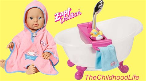 Baby Annabell Bath Set Baby Born Interactive Bathtub