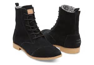 womens boots black black suede 39 s alpa boots toms