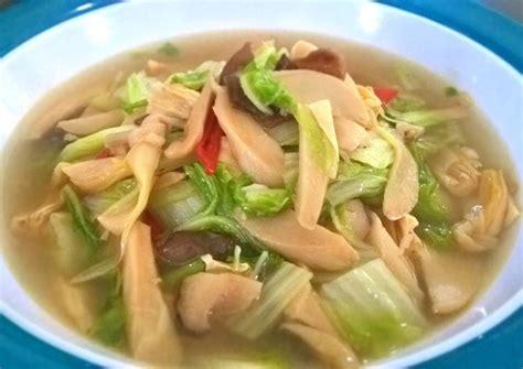 Daftar rumah makan vegetarian di seluruh indonesia. Resep Cah Jamur Sawi Putih Mix Kembang Tahu (Vegan Recipe ...