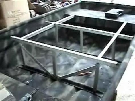 Jon Boat Casting Deck Ideas by 14 Foot Jon Boat Project Part 6 Youtube