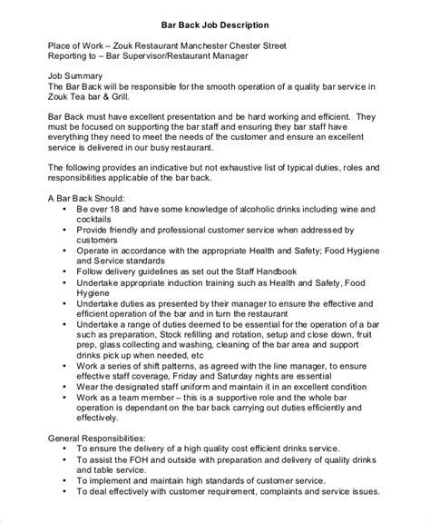 8+ Restaurant Manager Job Description Samples Sample