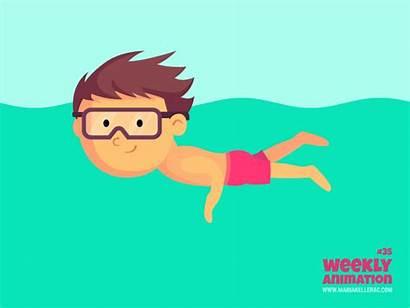 Swimming Boy Animation Kellerac Dribbble Week Vector