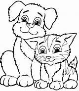 Coloring Cat Printable sketch template