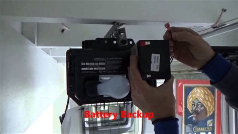 garage door battery backup liftmaster 8550 garage door opener battery backup