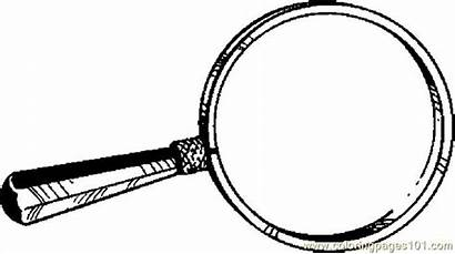 Magnifying Glass Coloring Printable Clipart Pages Drawing