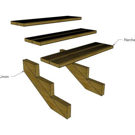 escalier escamotable largeur 80 cm kit escalier 4 marches largeur 80 cm en pin trait 233 autoclave boutique alsace terrasse