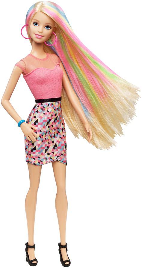 amazoncom barbie rainbow hair doll toys games