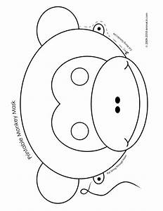 Printable animal masks monkey mask printable monkey mask for Dog mask template for kids