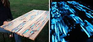 Awesome DIY Table With Glow-In-The-Dark Resin